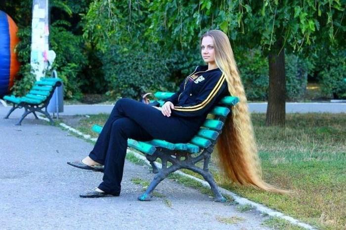راپونزل در دنیای واقعی؛ دختر اوکراینی که موهایش از خودش بلندتر شده اند