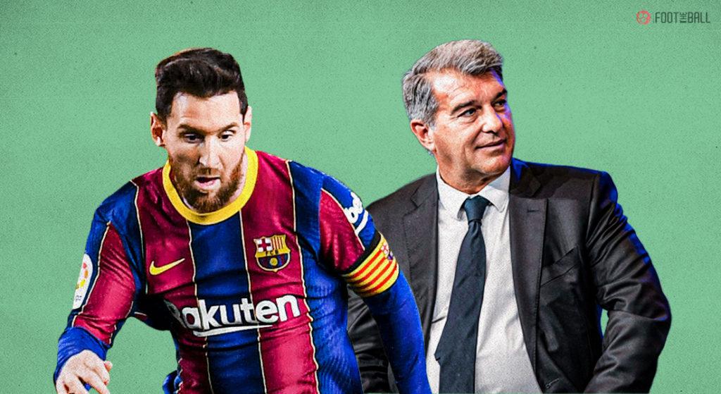 توضیحات کامل خوان لاپورتا در مورد غیرممکن بودن ماندن لیونل مسی در بارسلونا