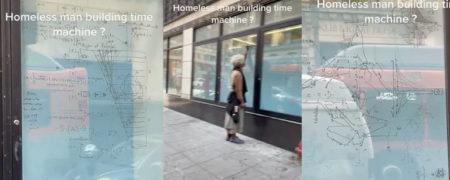 ویدیوهای پربازدید یک کاربر تیک تاکی در مورد  مرد بی خانمانی که مسافر زمان است