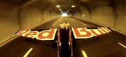 پرواز خطرناک خلبان ایتالیایی از میان دو تونل و ثبت ۵ رکورد گینس + ویدیو