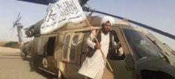 تلاش نافرجام نیروهای طالبان برای به پرواز درآوردن بلک هاوک آمریکایی + ویدیو