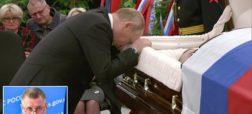 وداع پر از اندوه ولادیمیر پوتین با پیکر بادیگارد سابقش + ویدیو