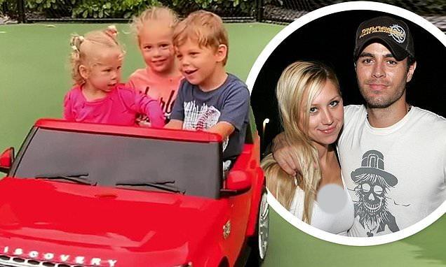 انتشار اولین تصاویر از سه فرزند انریکه ایگلسیاس و آنا کورینکووا + ویدیو
