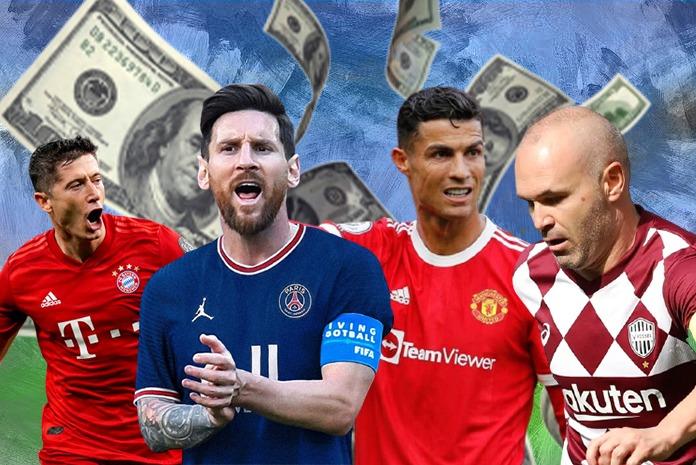پردرآمدترین بازیکنان دنیای فوتبال در فصل ۲۲-۲۰۲۱؛ کریستیانو رونالدو باز هم در صدر