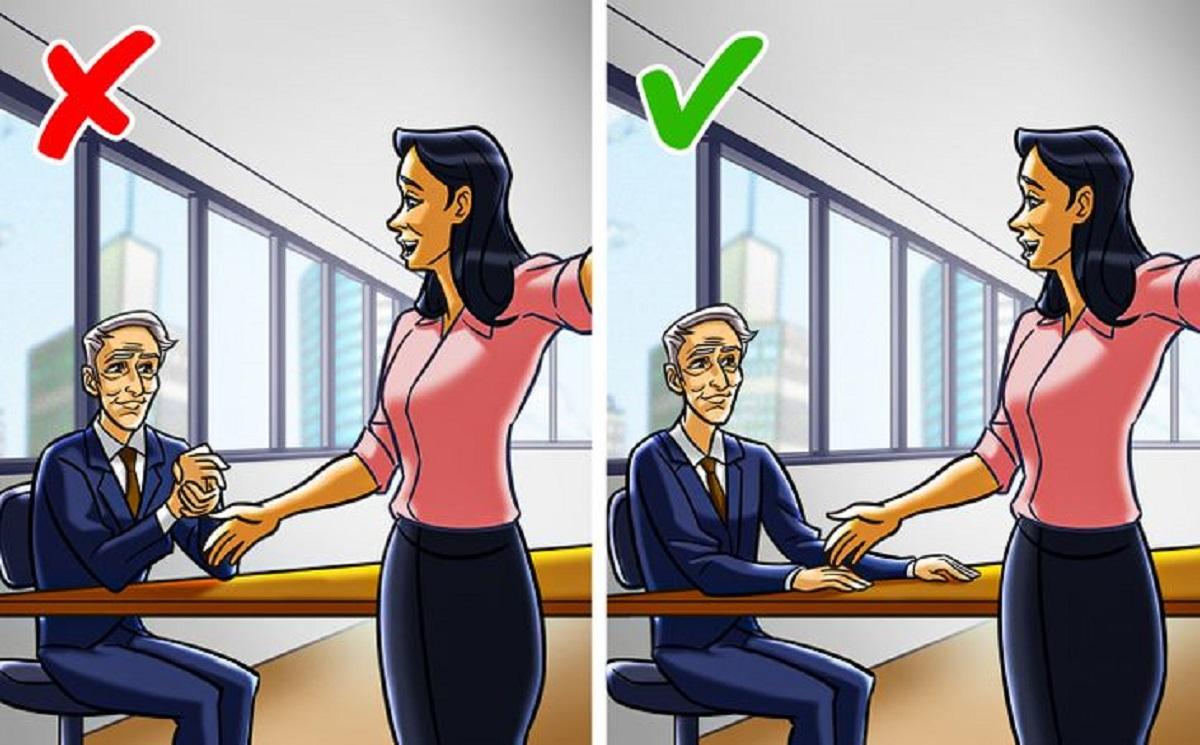 مالیدن دست ها به هم در جلسه کاری