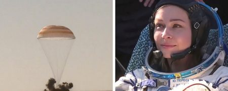 بازگشت عوامل اولین فیلم ساخته شده در فضا به زمین