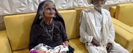 زن ۷۰ ساله هندی برای اولین بار مادر شد