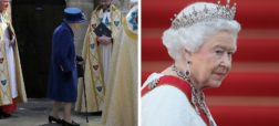 ملکه انگلیس برای اولین بار با عصا در ملأعام حاضر شد
