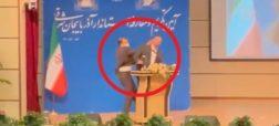 سیلی خوردن استاندار جدید آذربایجان شرقی در مراسم معارفه اش + ویدئو