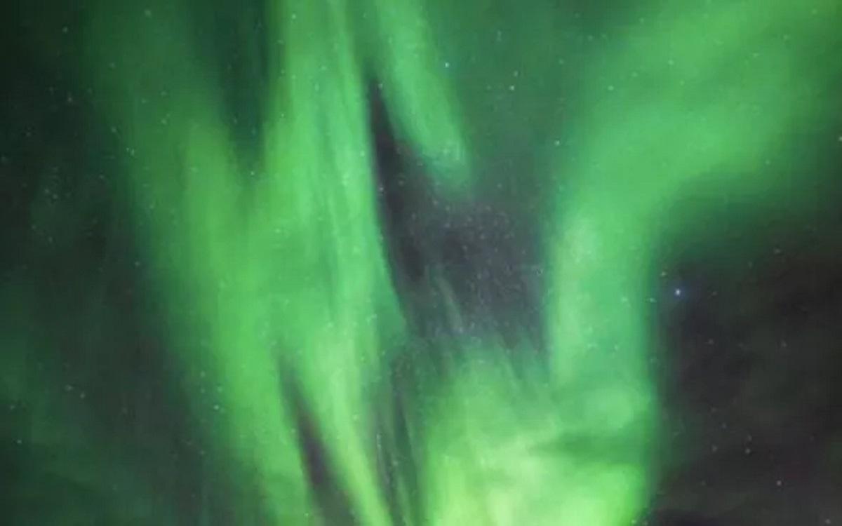 شفق قطبی مشاهده شده در ایسلند