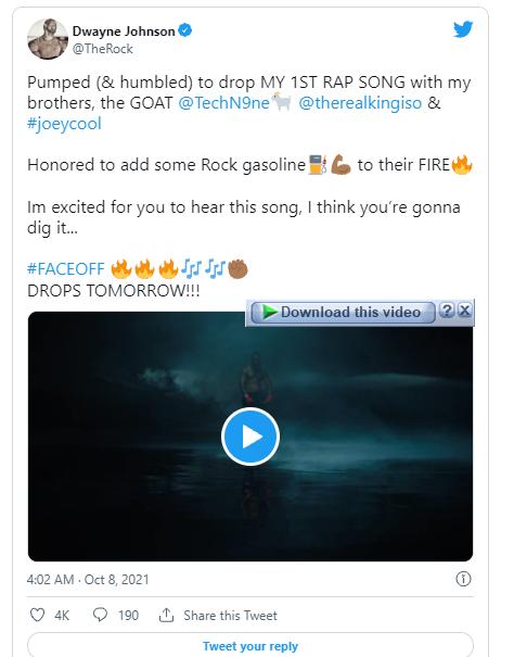 اگر فکر می کنید تمام هنرنمایی های دواین جانسون ملقب به «راک» را دیده اید اشتباه می کنید زیرا اکنون می توانید اولین ترانه رپ او را نیز بشنوید.