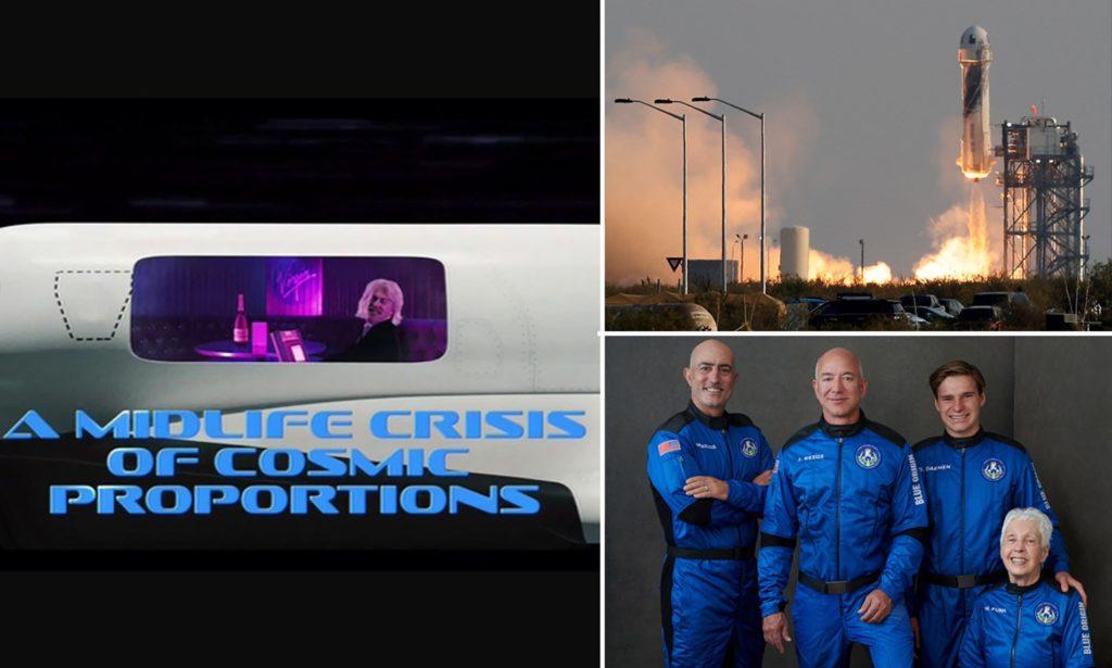 شوخی شو طنز SNL با رقابت فضایی جف بیزوس، ایلان ماسک و چارلز برانسون + ویدیو